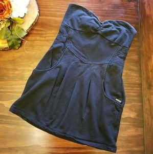 Billibong strapless dress with pockets
